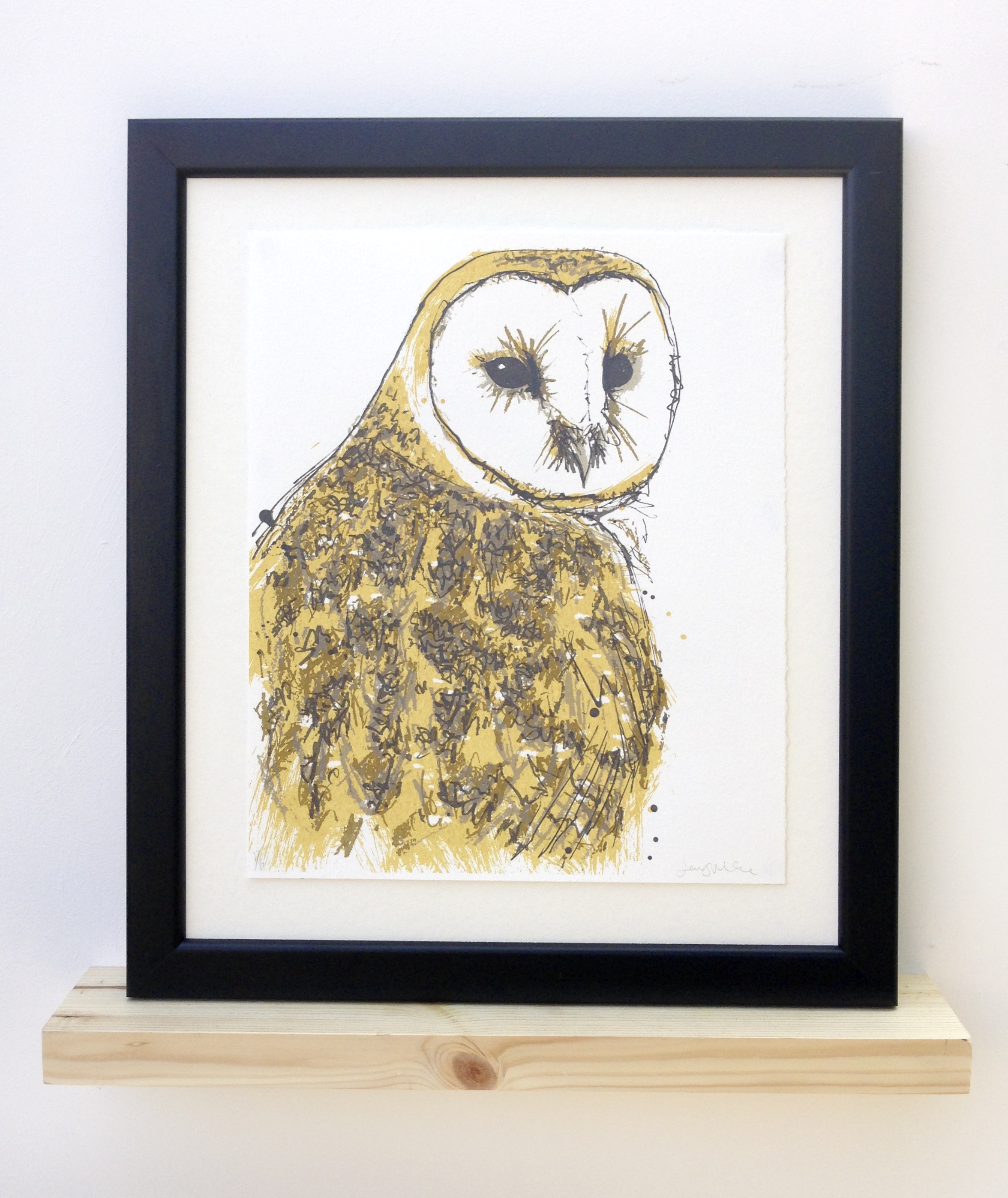 Barnowl. 2017. Screen print. Edition of 12. SOLD OUT