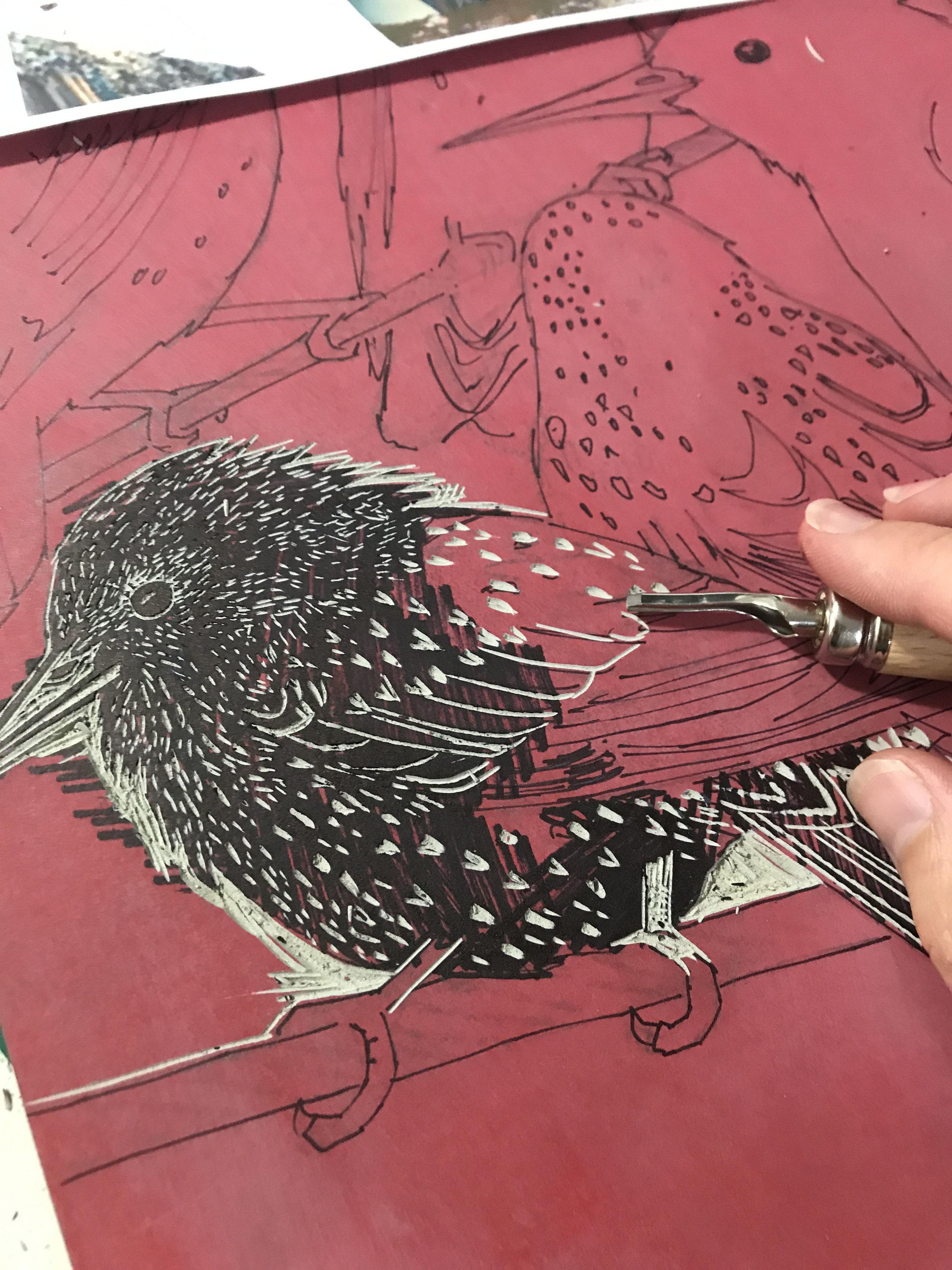 starling lino cutting small.jpg