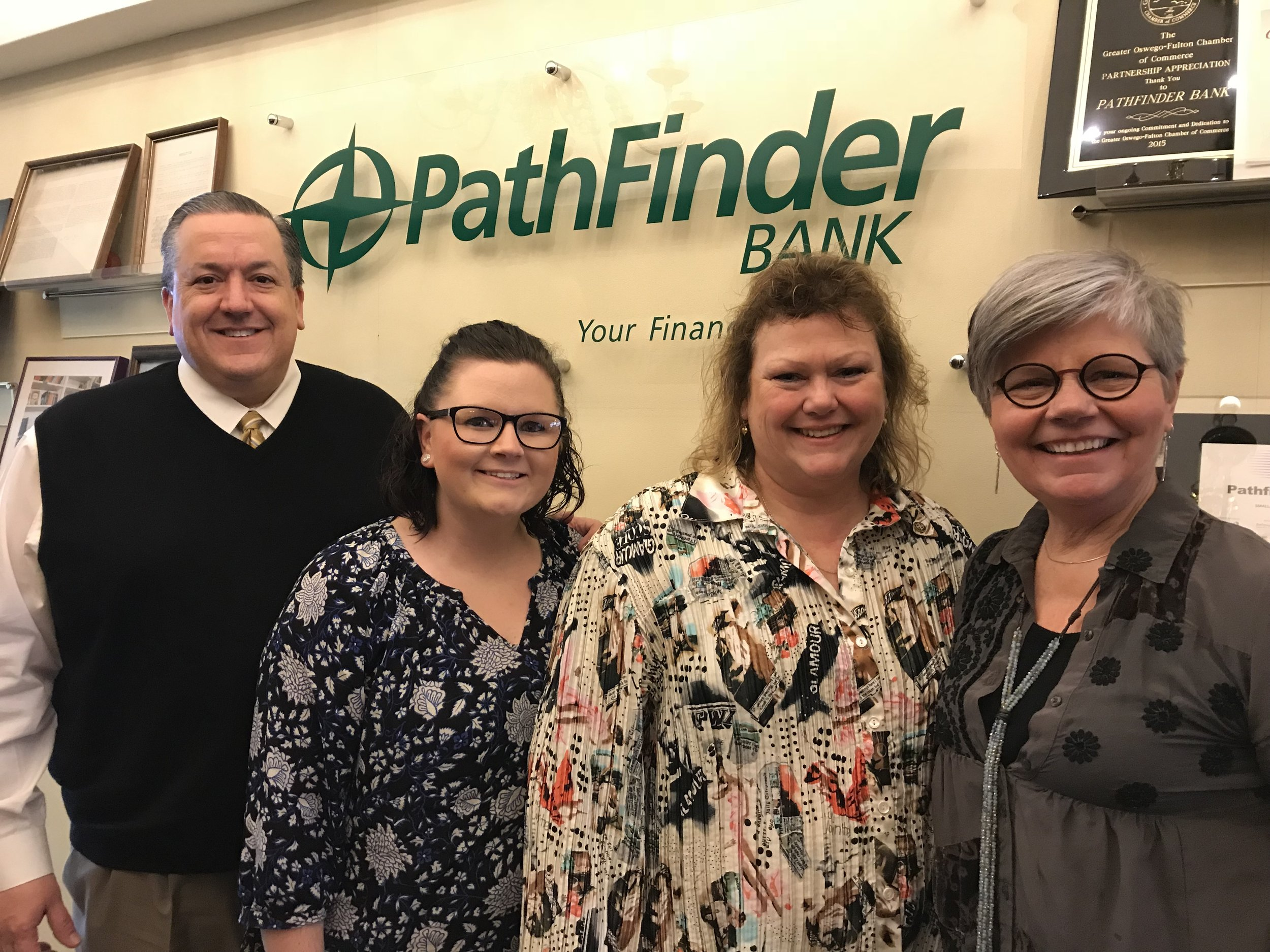 Pictured in this photo is James Dowd-EVP Chief Operating Office & Chief Financial Officer, Jennifer Whalen, Reyne Pierce and Linda Eagan