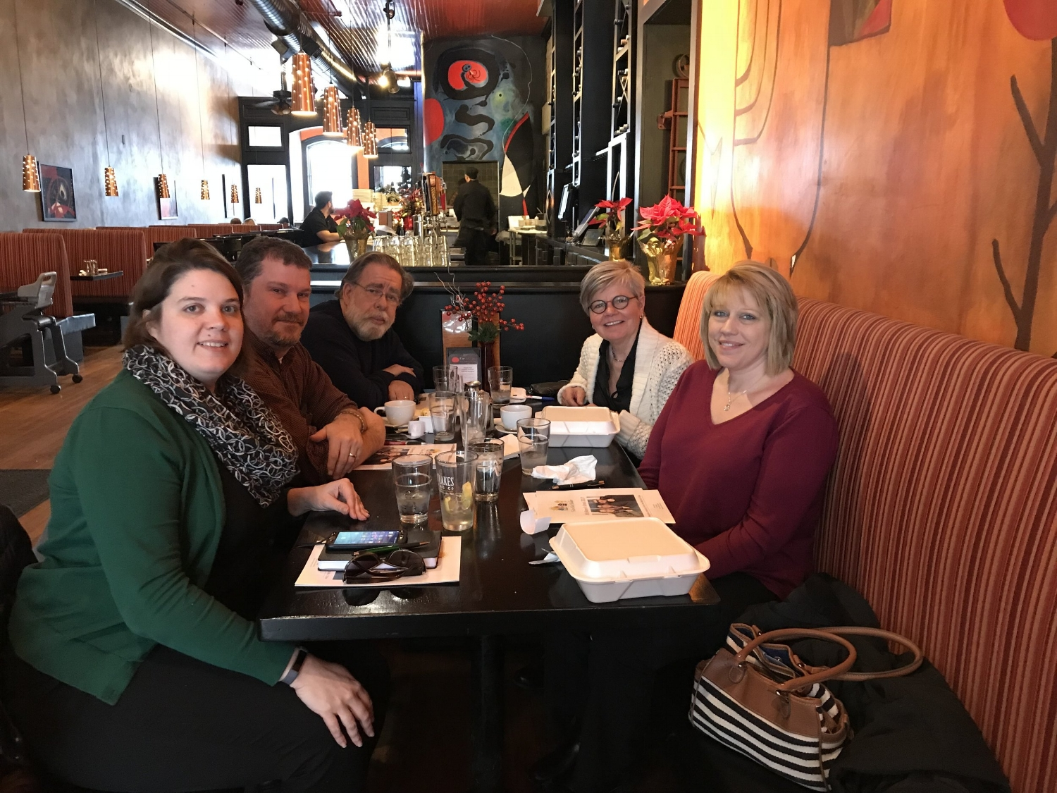 The Oswego Renaissance founders Paul Stewart and Steve Phillips share advice and wisdom with Linda Eagan, Alissa Viscome and Karen Perwitz from Fulton Block Builders