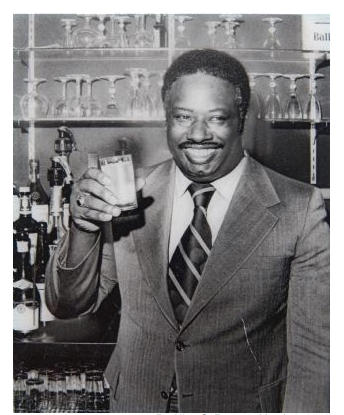 Cornelius Pitts, owner of the Pitts Motel. Here he is in the Red Carpet Lounge, which was a popular spot. date unknown. Photographer unknown.  Fair use.