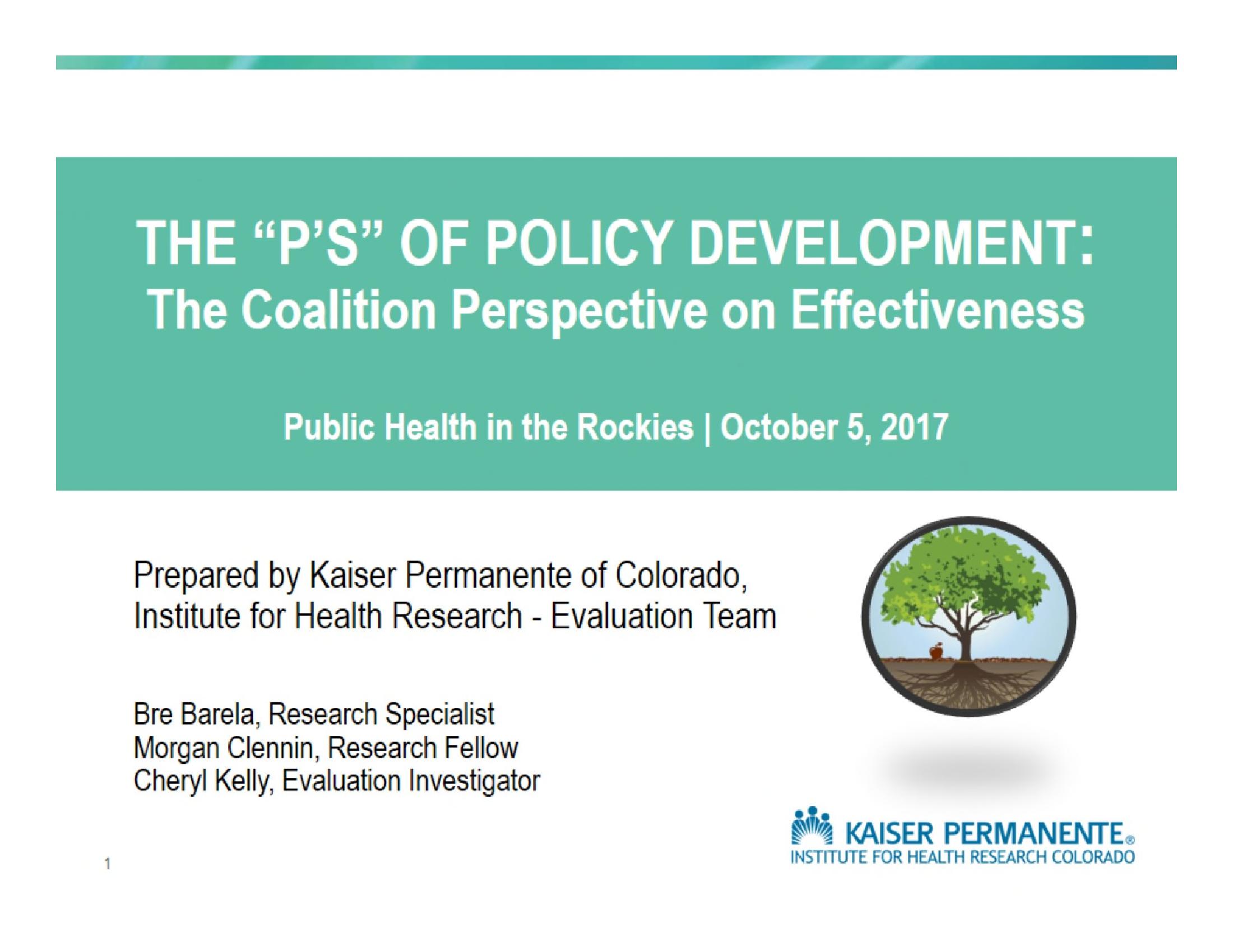 CCPD Measuring Coalition Effectiveness Regional Presentation 2017