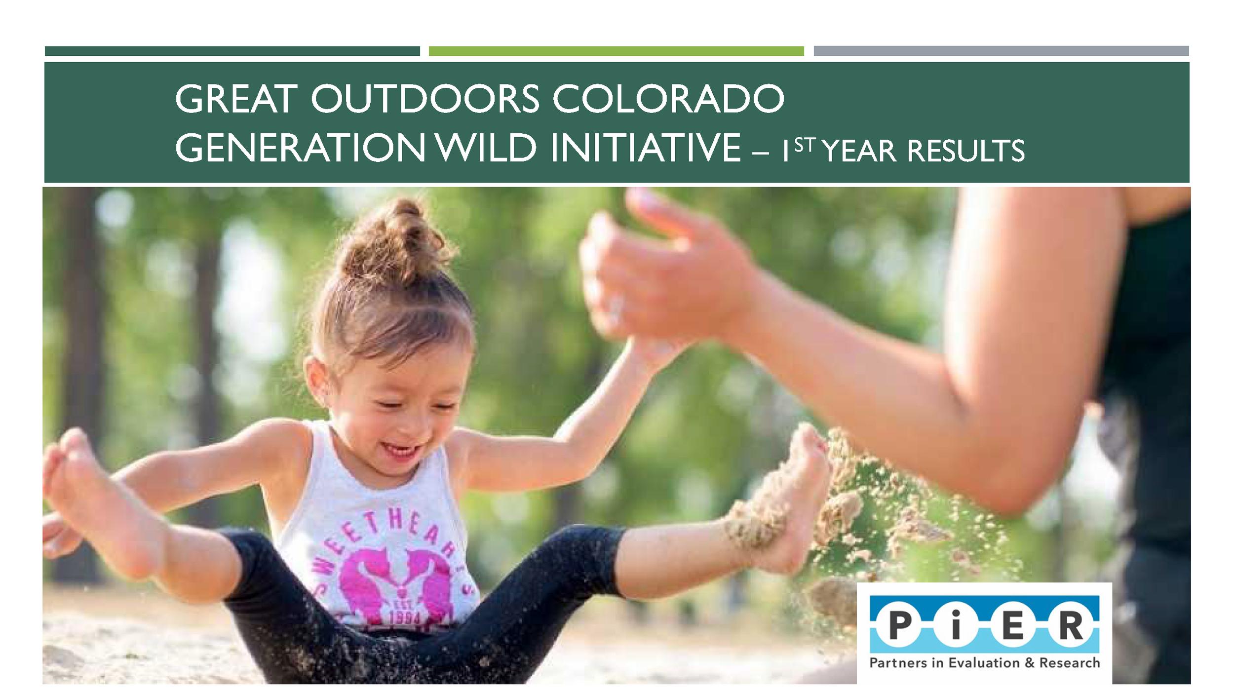 Great Outdoors Colorado Generation Wild Evaluation 2018