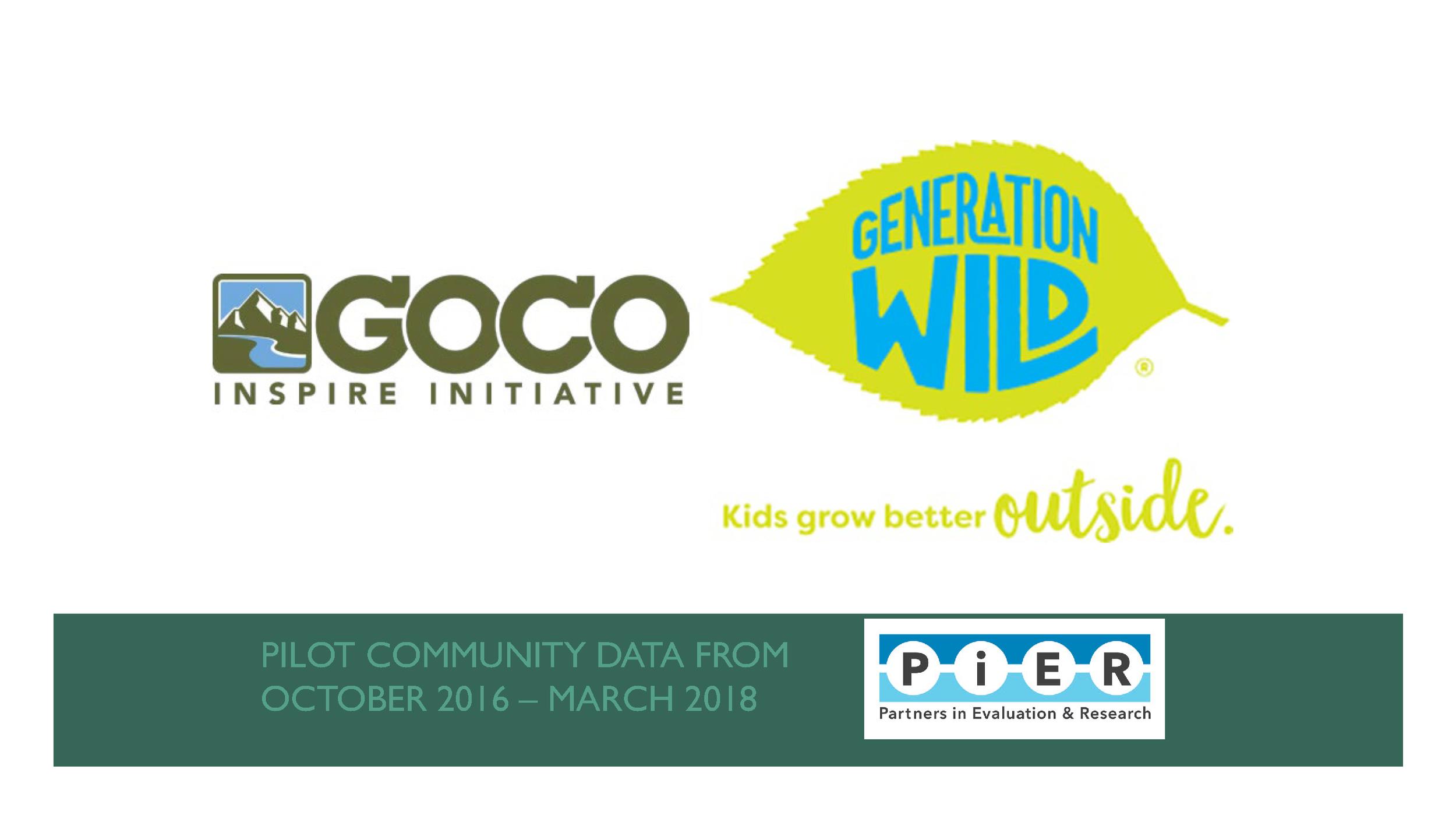 Great Outdoors Colorado Generation Wild Board Presentation 2018