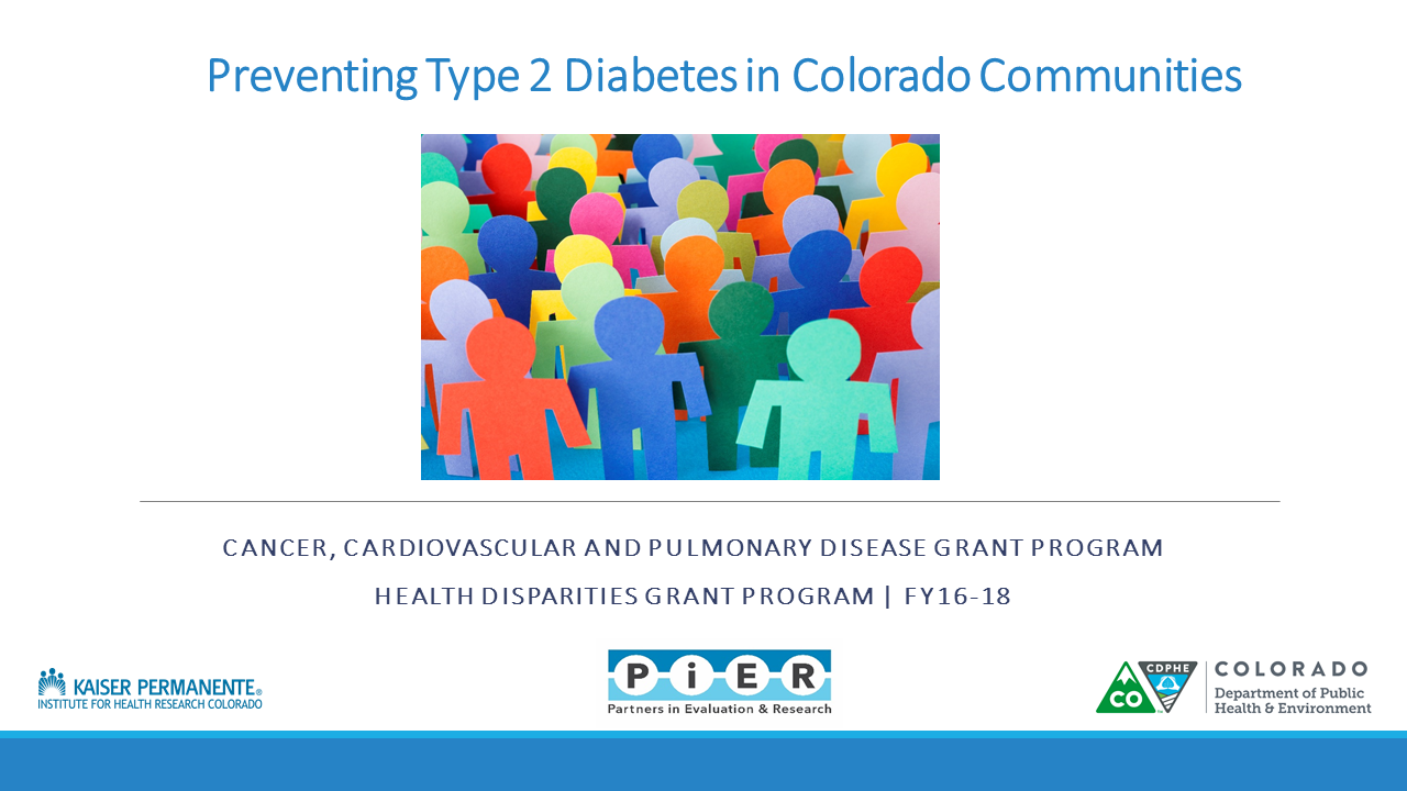 CCPD National Diabetes Prevention Program Evaluation 2018