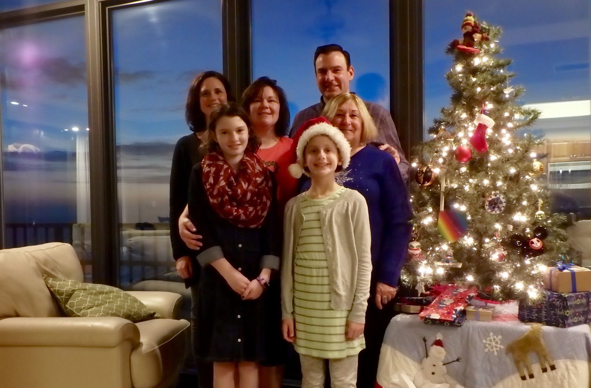 Candi's family honors her this holiday season- Stacey, Kelly, Chris, Darlene, Kate, and Laine.