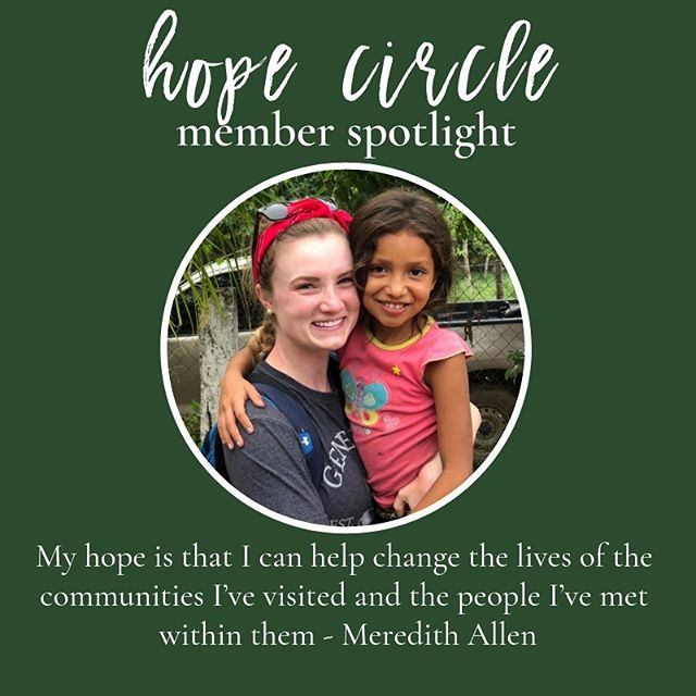 One of the ways you can support us is through joining the Hope Circle. Next week we'll be sharing more info on how we work in Honduras, but we couldn't do it without the support of our monthly donors!  Thanks @merieisthebomb for being part of #thehopecircle