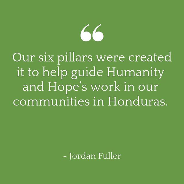 This week we are sharing a look at our 6 pillars from the view of our Honduran leaders.  They are •Education •Infrastructure •Health •Leadership •Economy •Comunity  #humanityandhope #learngrowprosper #sustainability #sustainableliving #sustainablecommunities #
