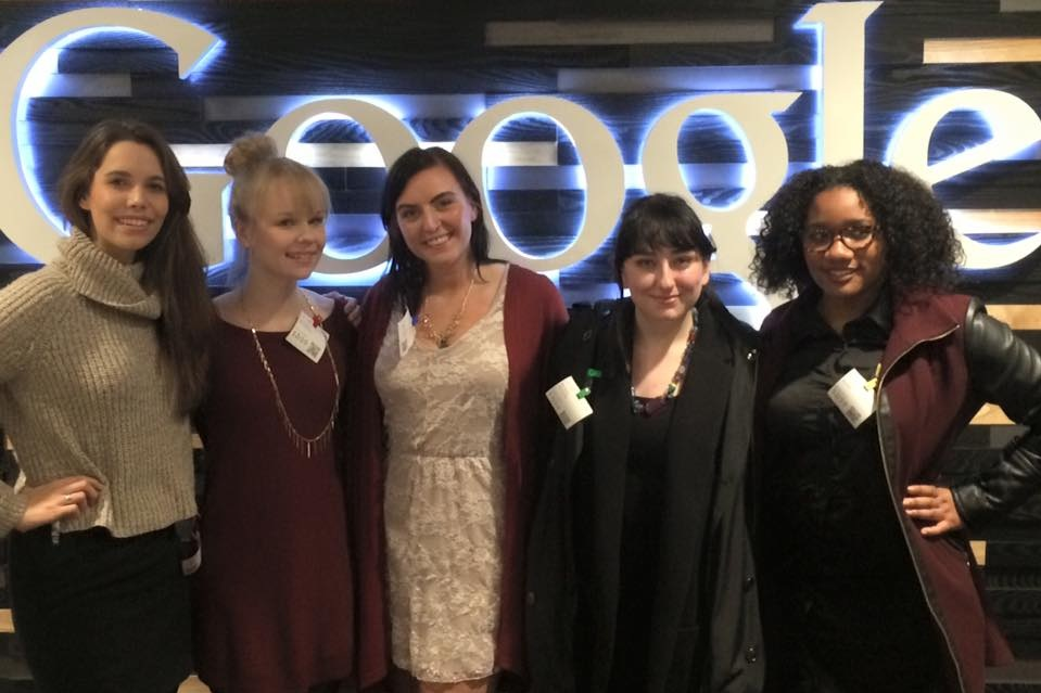 Networking with other women in technology at Google.