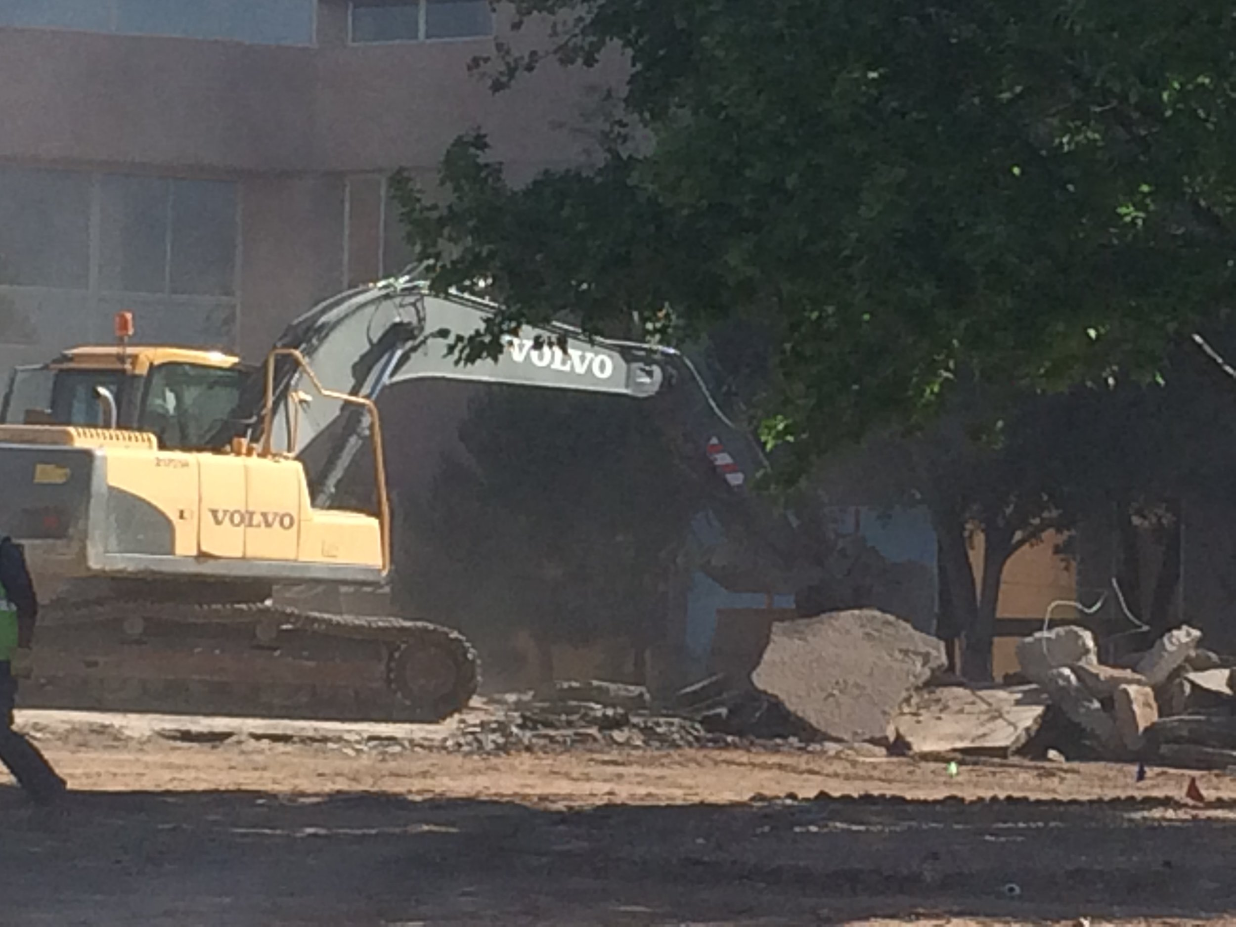 Demolition at St. Vincent's Hospital, Santa Fe, NM