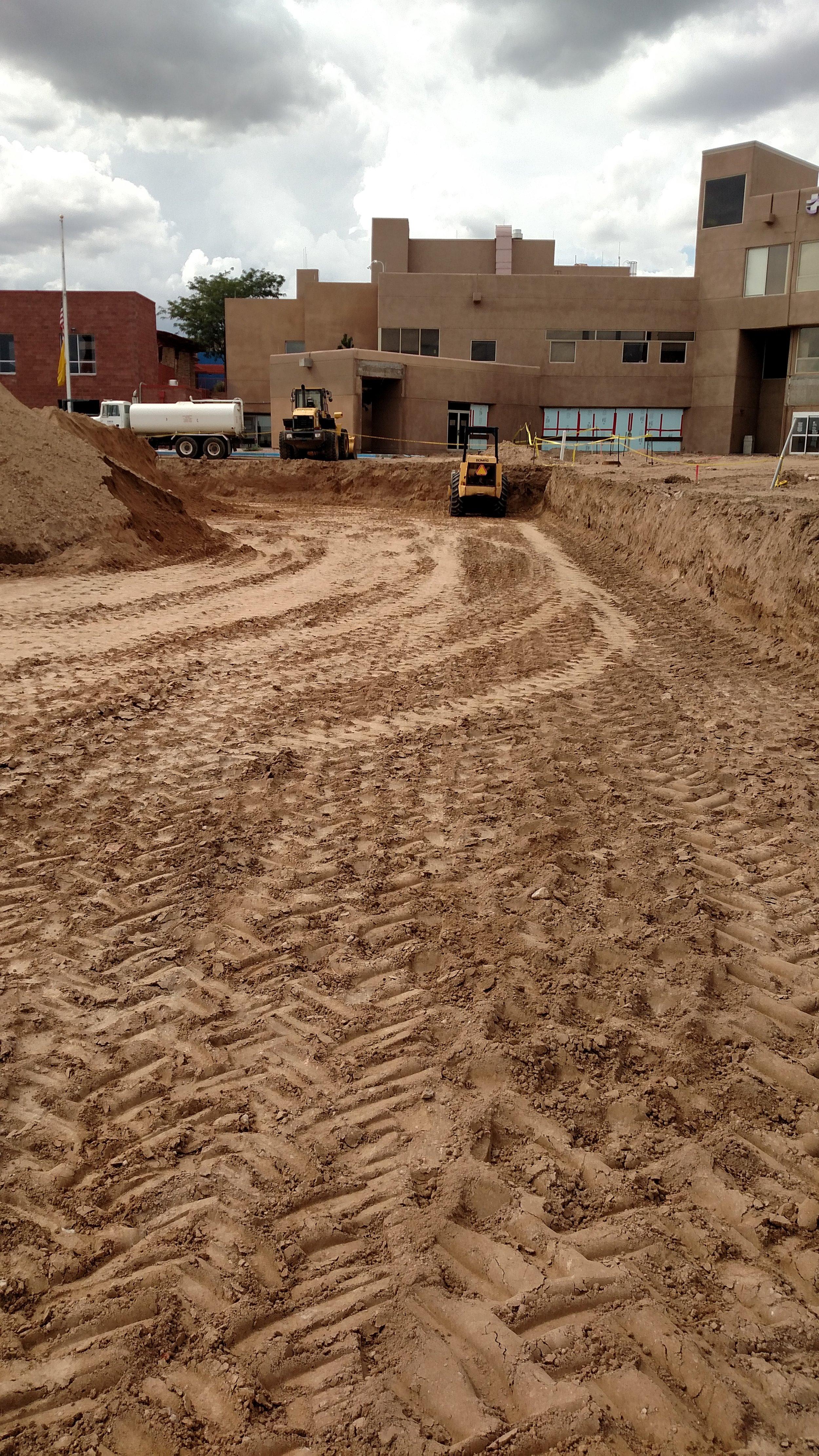 Over Excavation at St. Vincent's Hospital, Santa Fe, NM
