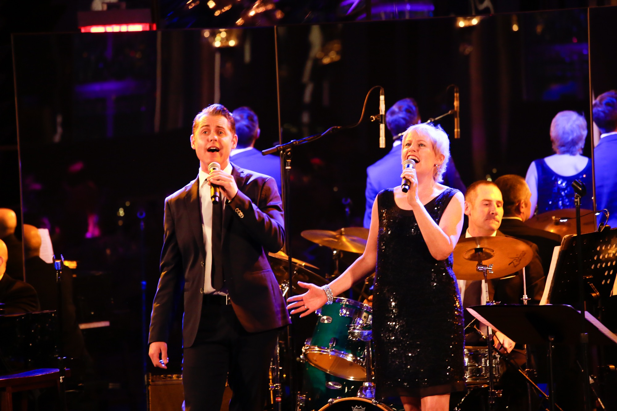 Michael and Liz Callaway at The Rainbow Room; NYC.