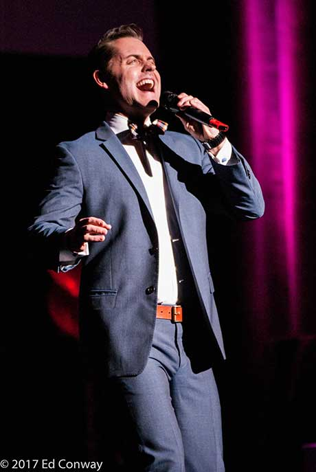 """Michael singing """"She Loves Me"""" at The Proctor's Center in Schenectady, NY."""