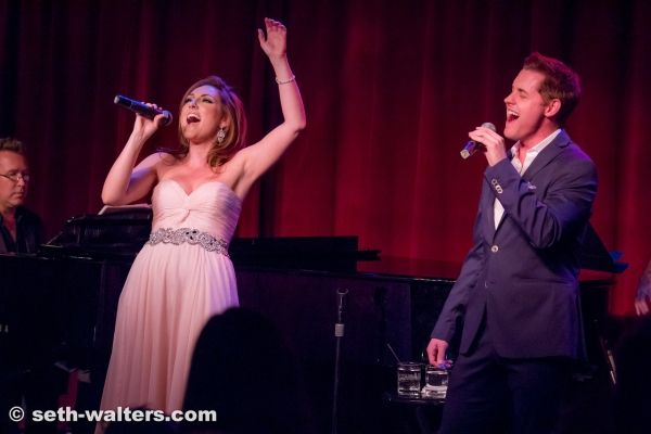 Michael and Tiffany Haas in  Cheek to Cheek: A Broadway Romance at Birdland.