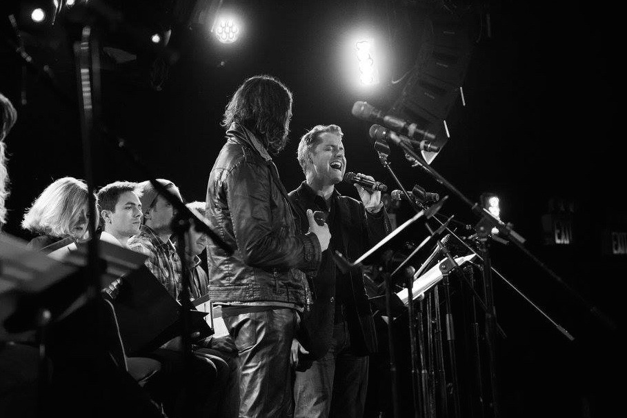 Michael and Constantine Maroulis in  Outlaws  at Le Poisson Rouge