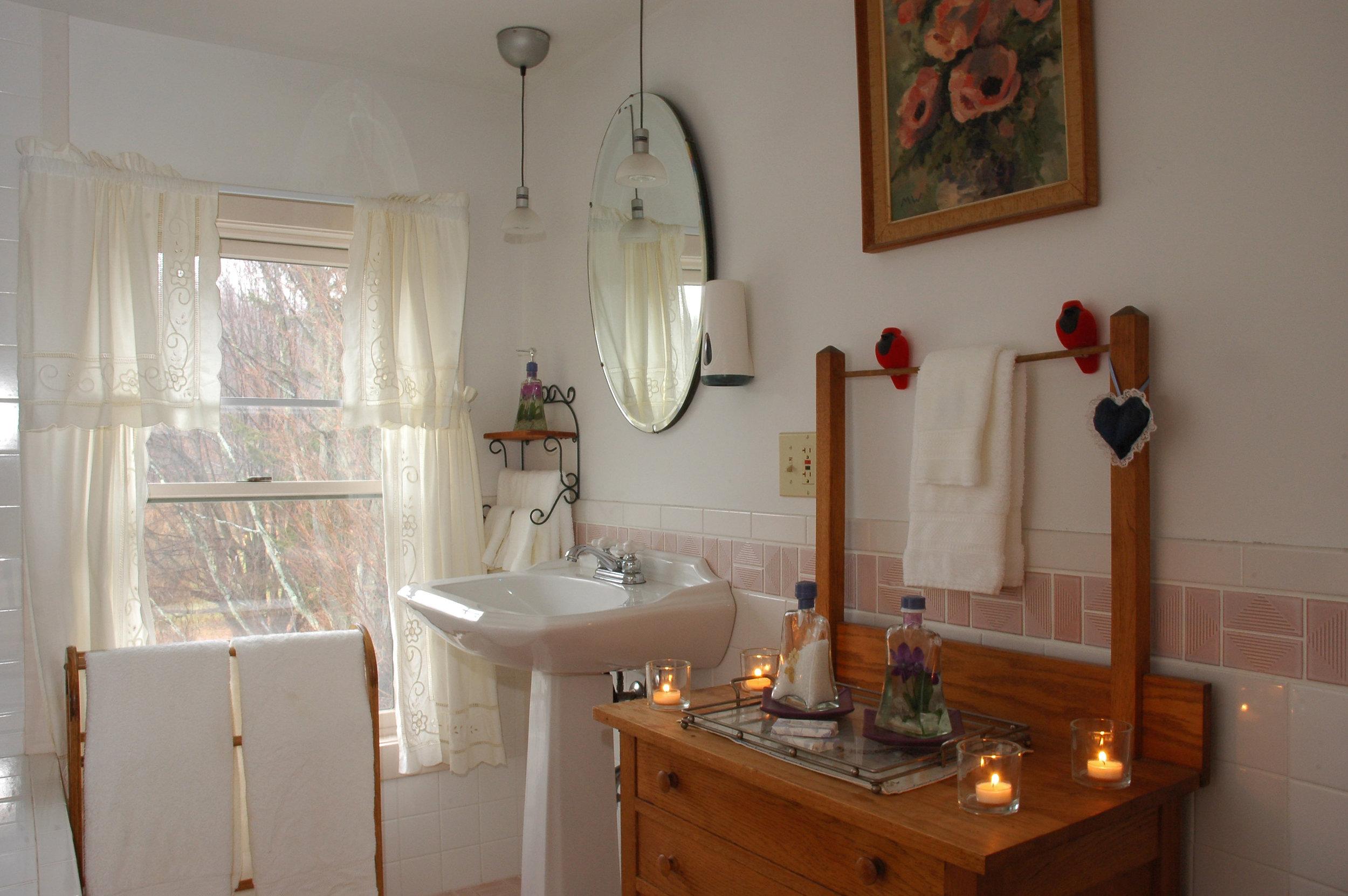 Catskill Suite bathroom sink area