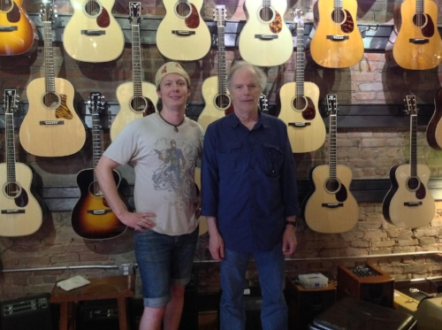 Robinson and Leo Kottke in front of the Acoustic wall at Soundpure.