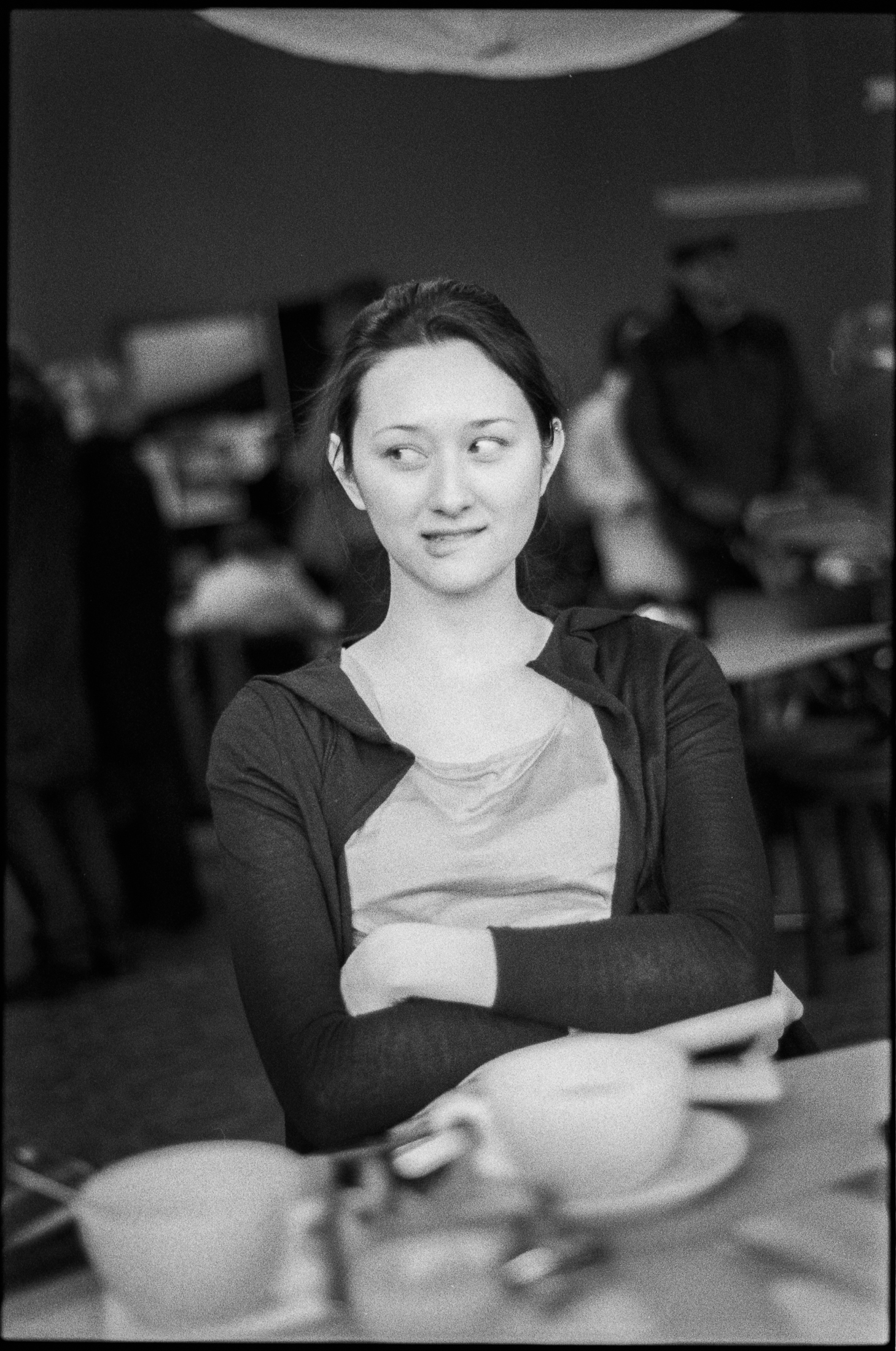 Nicole at a cafe in Prenzlauer Berg, 2008