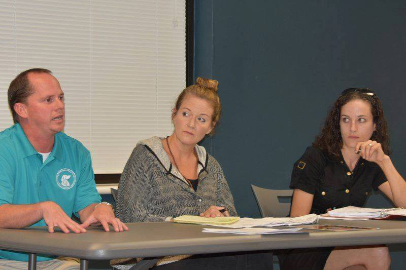 Kate Bierman (right) sits on the Animal Shelter Oversight Committee