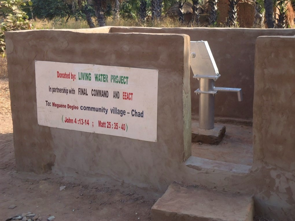 The new well in Meguene Degleo, which is serving approximately 2,000 people.