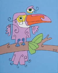 Toucan , 2007, 16x20 inches, acrylic on canvas