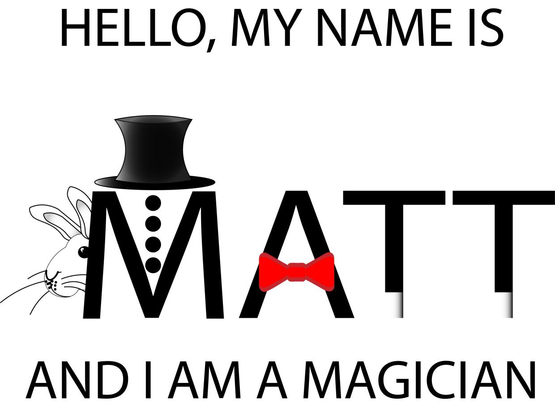 A good magician can make a rabbit disappear behind their name.