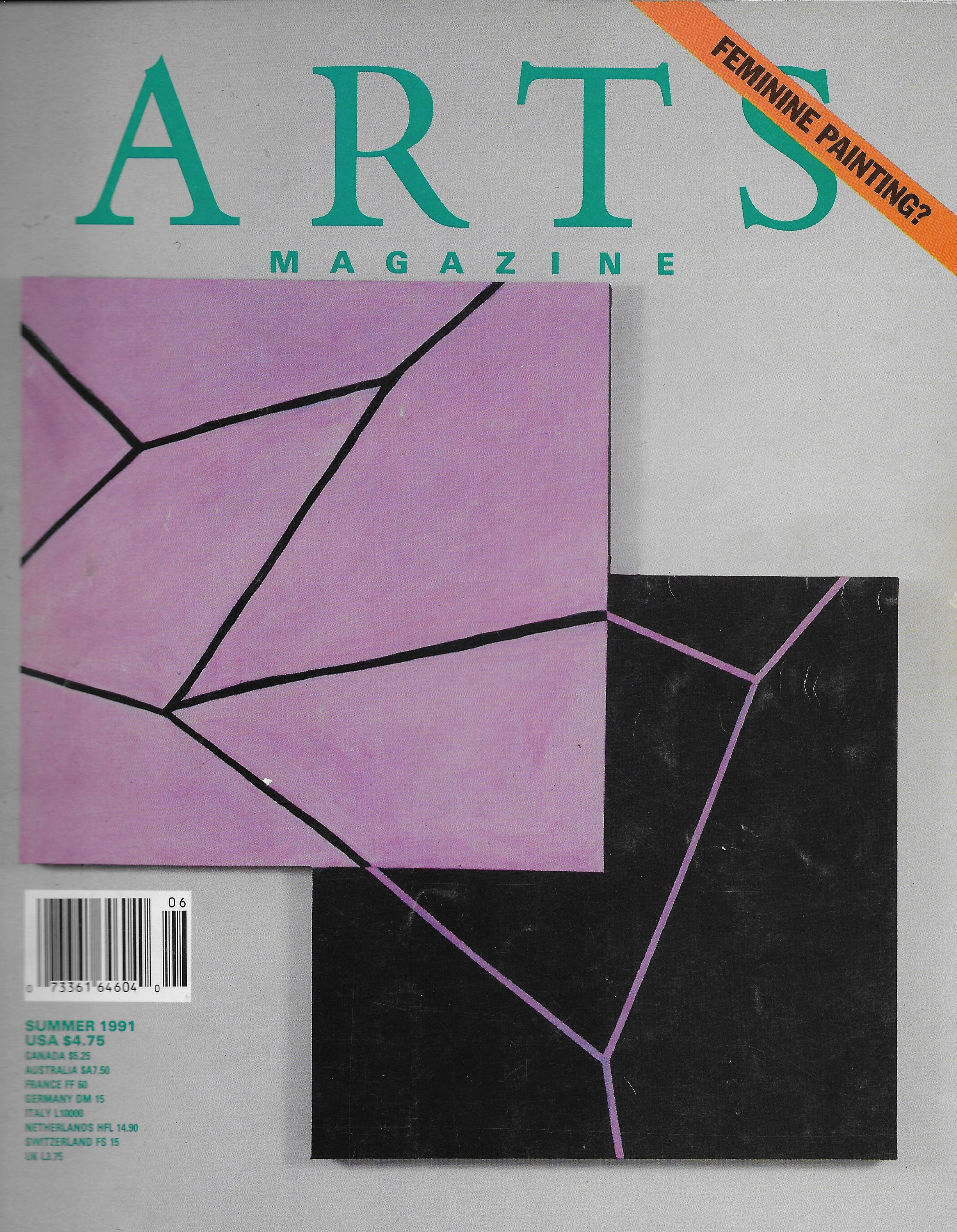""" Painting and its Others ,"" as published in  Arts Magazine,  Summer 1991. Cover image: Mary Heilmann,  Mode O'Day  (1991). Oil on canvas, 54 x 64 inches."