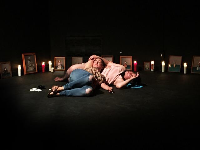 Figure 4. Photo documentation of Patricia Zambrano's performance work  Ofrendx,  2017. Image courtesy of Erika Hirugami and CuratorLove.