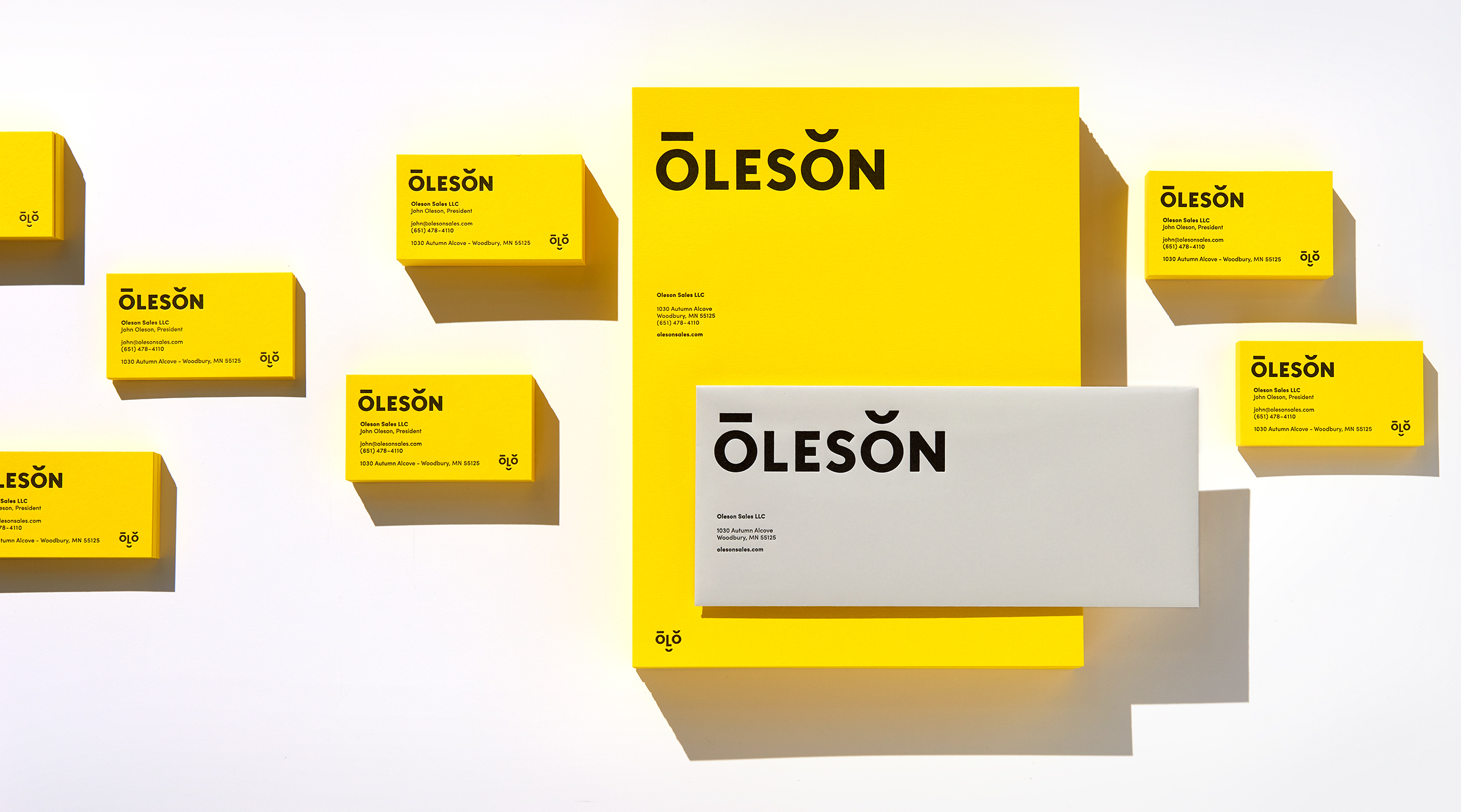 Oleson identity design and stationery. Designed by Abby Haddican at Werner Design Werks.
