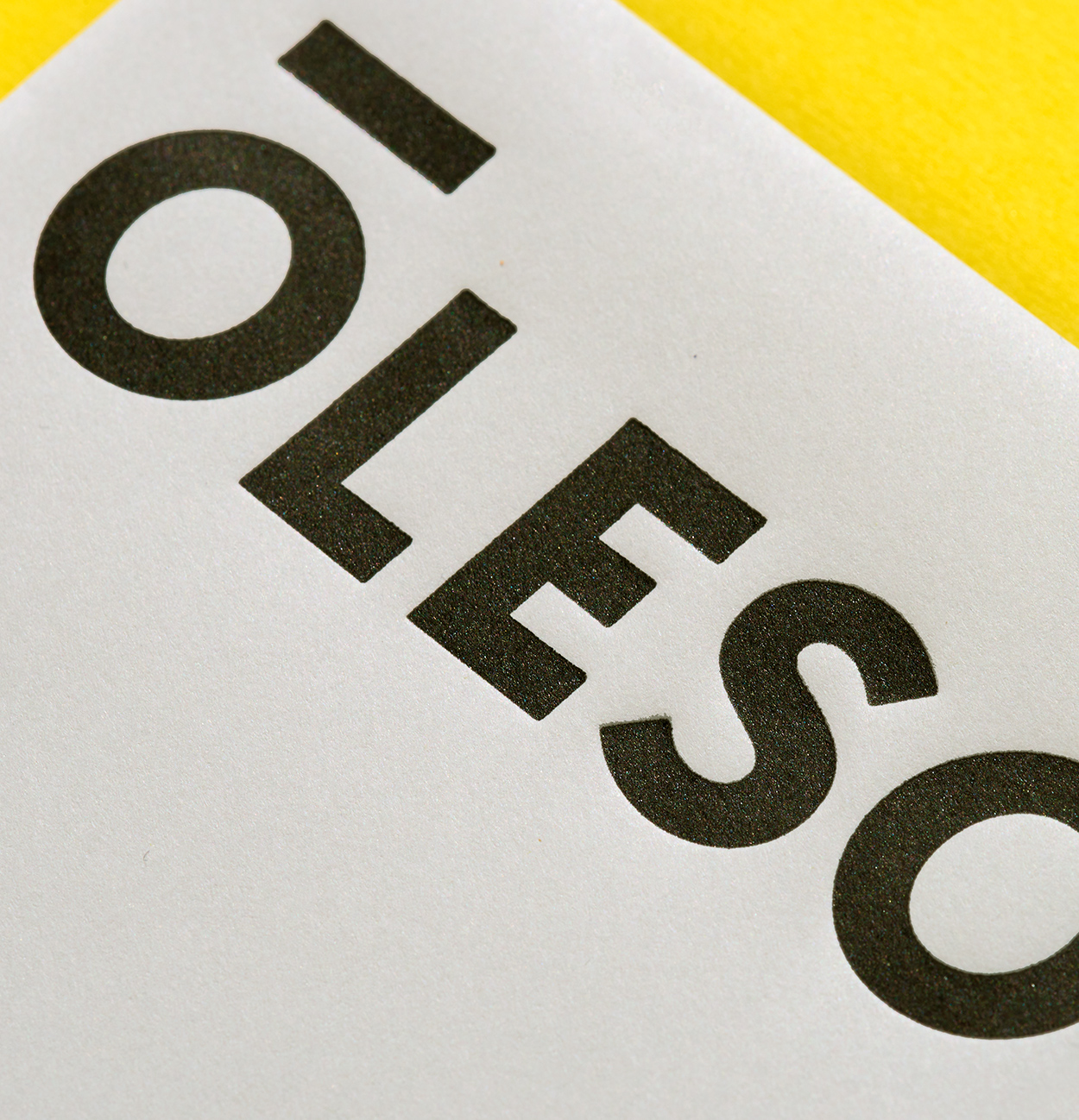 John Oleson identity design by Abby Haddican at Werner Design Werks.