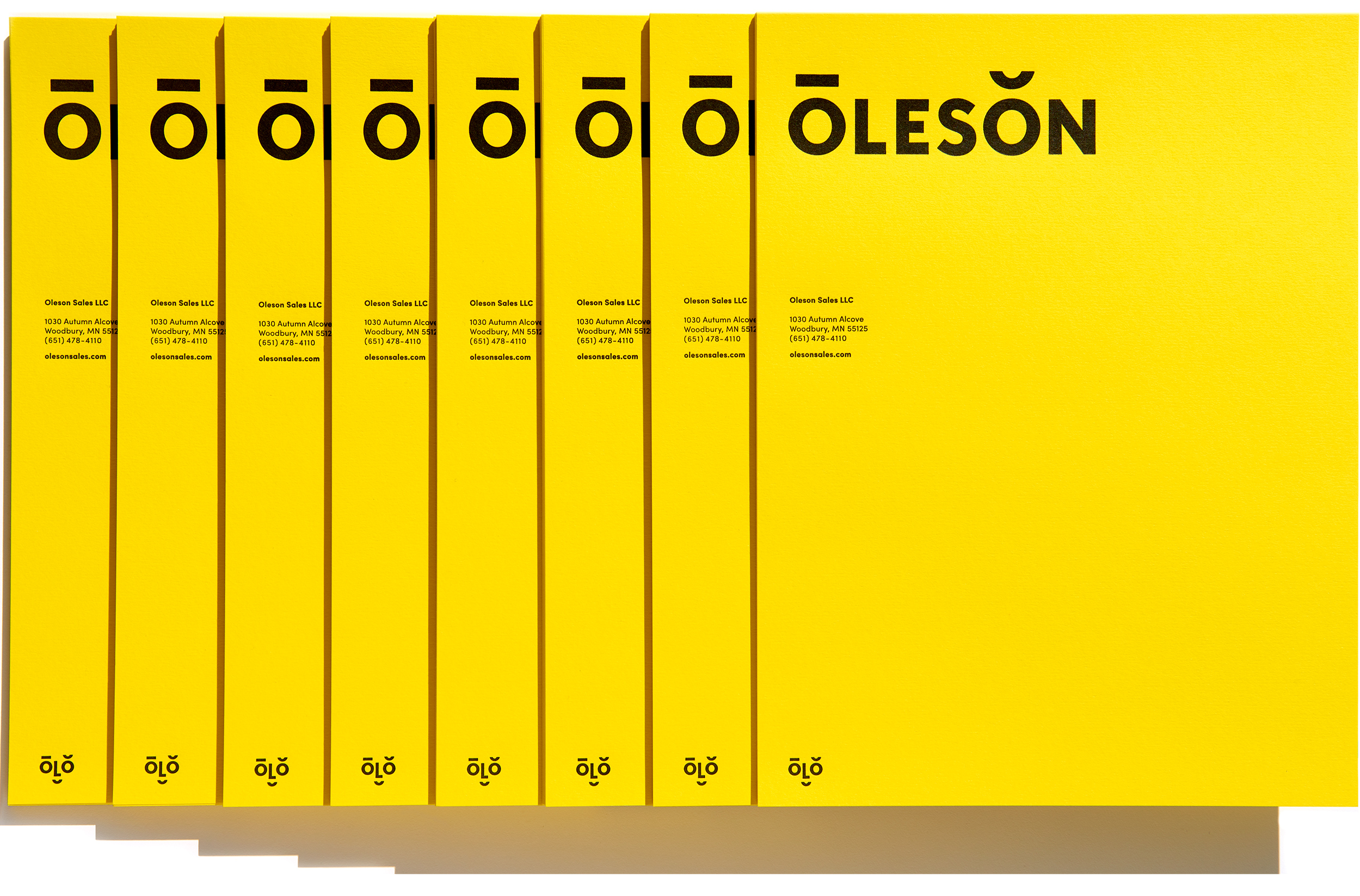 Oleson brand identity designed by Abby Haddican at Werner Design Werks