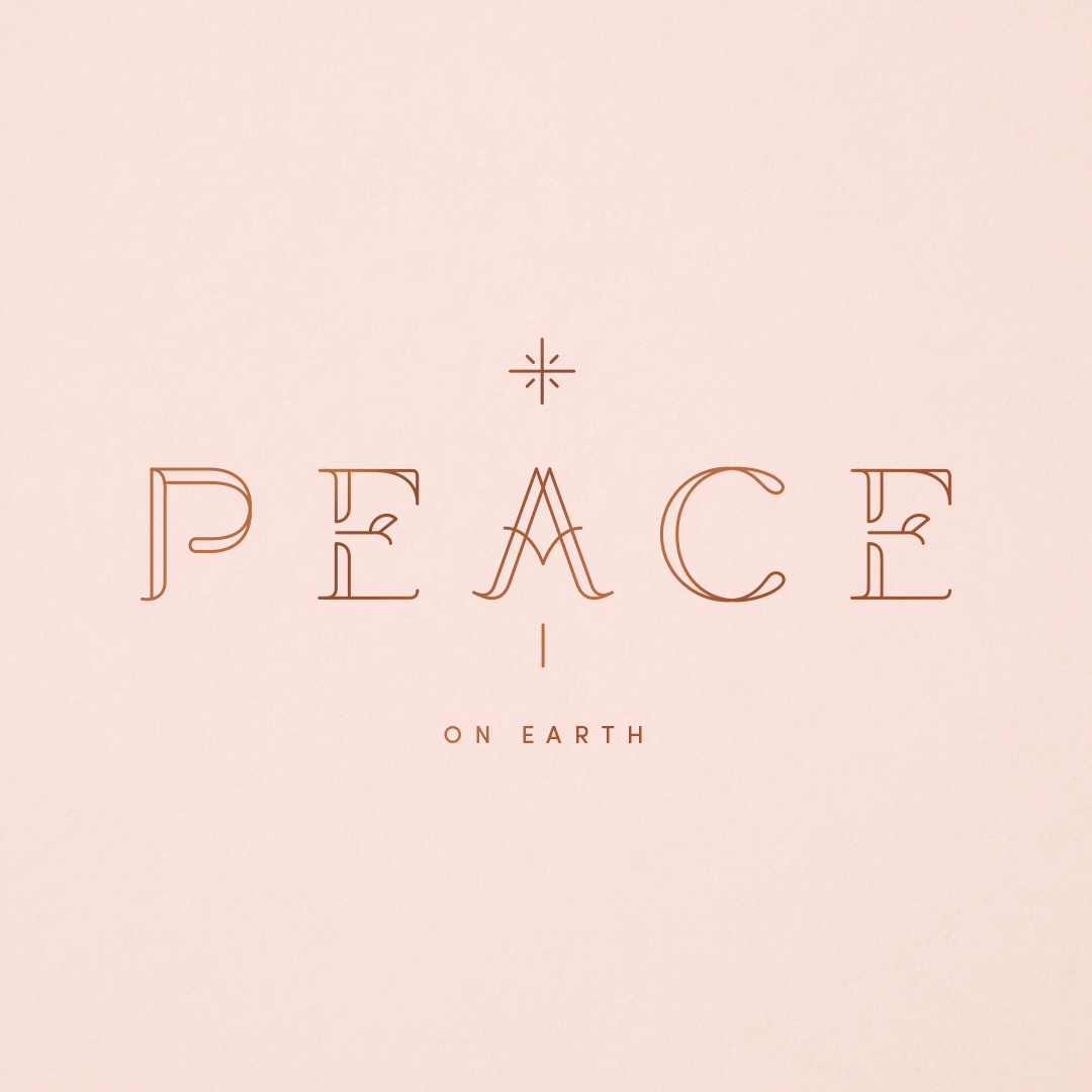 Peace custom typography designed by Abby Haddican.