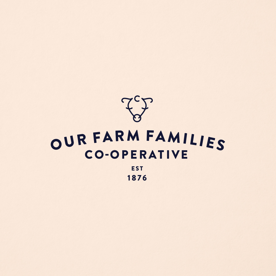 Our Farm Families Cooperative logo designed by Abby Haddican