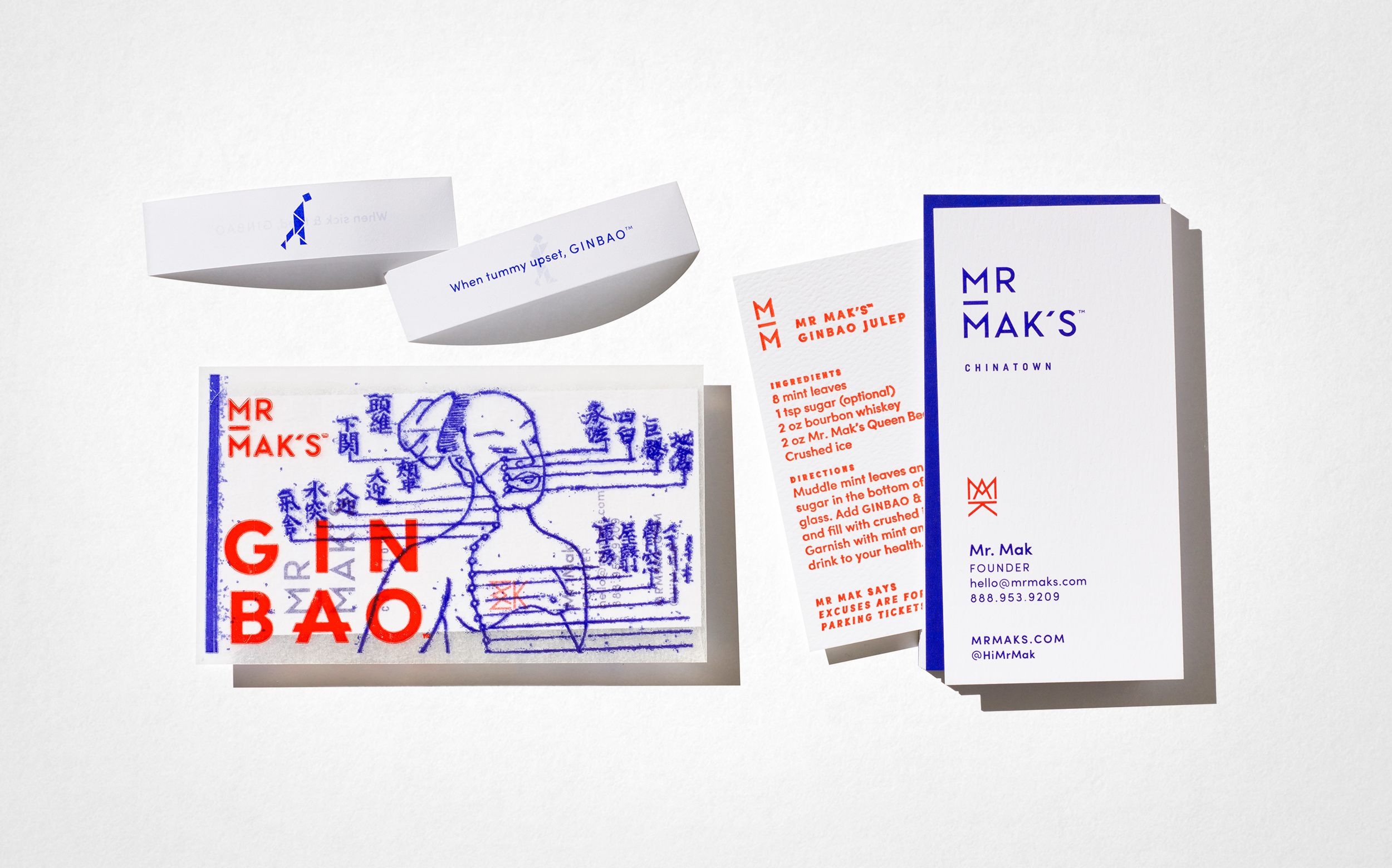 Mr. Mak's brand identity designed by Abby Haddican at Werner Design Werks.