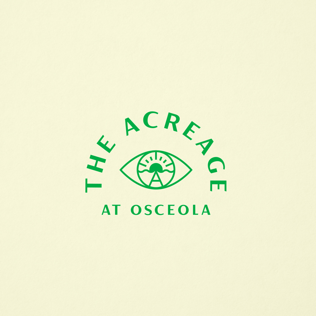 Logo for The Acreage designed by Abby Haddican at Werner Design Werks