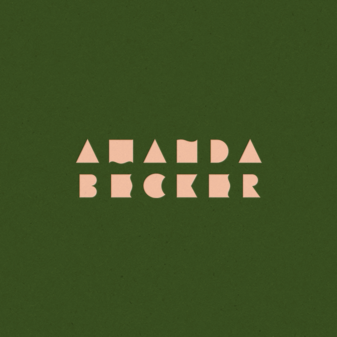 Logo for Amanda Becker designed by Abby Haddican Studio.