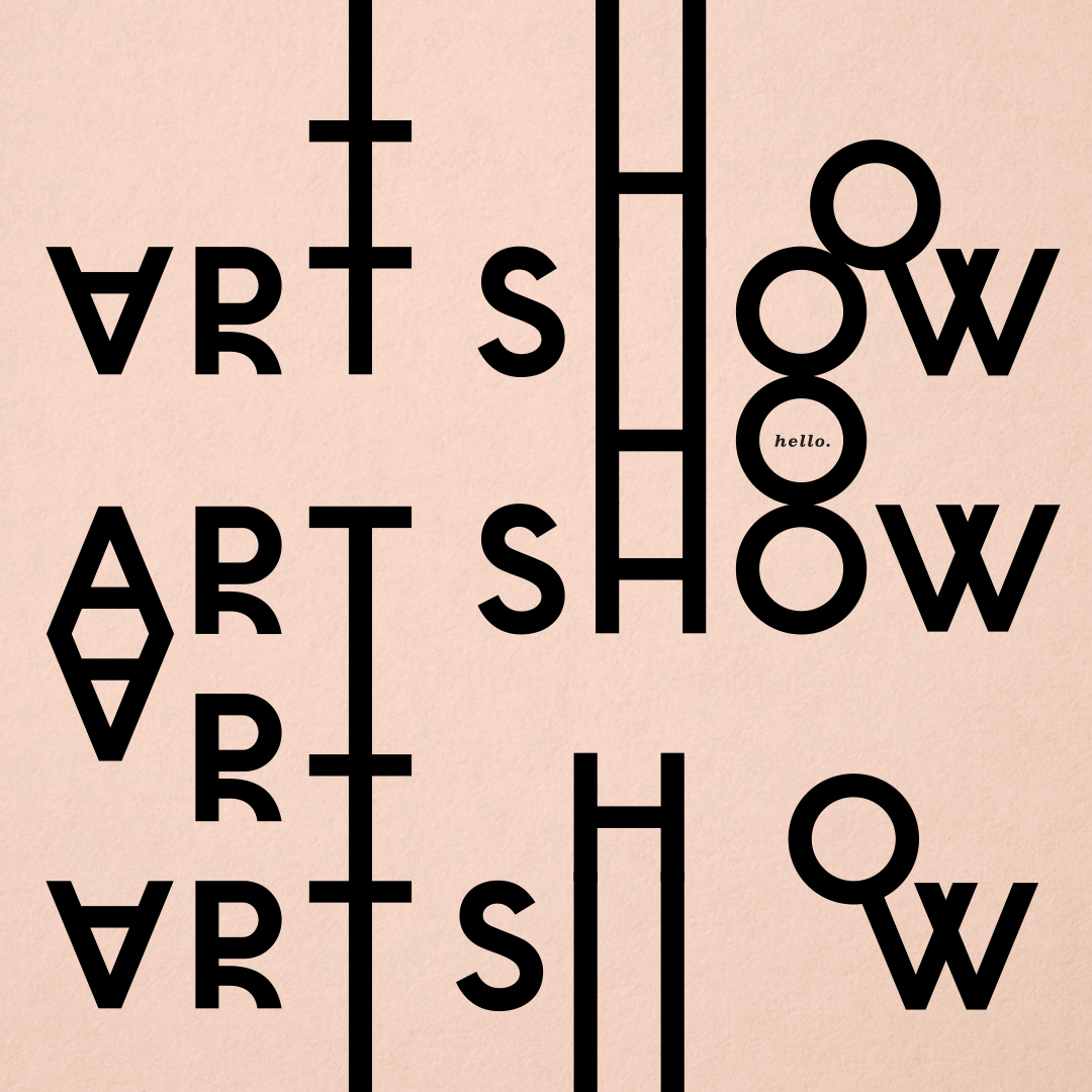 Art Show event branding designed by Abby Haddican
