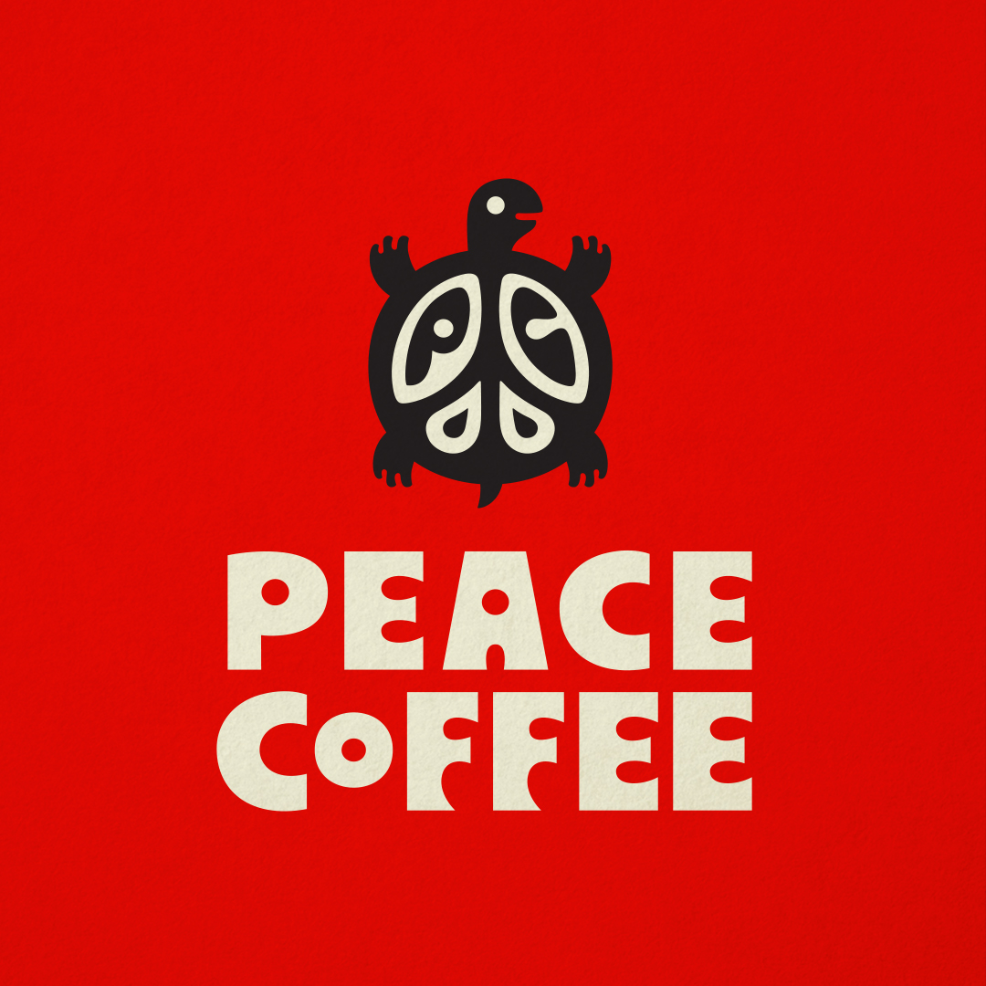 Peace Coffee logo designed by Abby Haddican and Sharon Werner