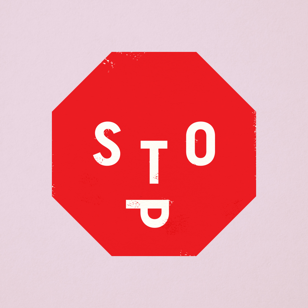 Stop sign illustration designed by Minneapolis designer Abby Haddican