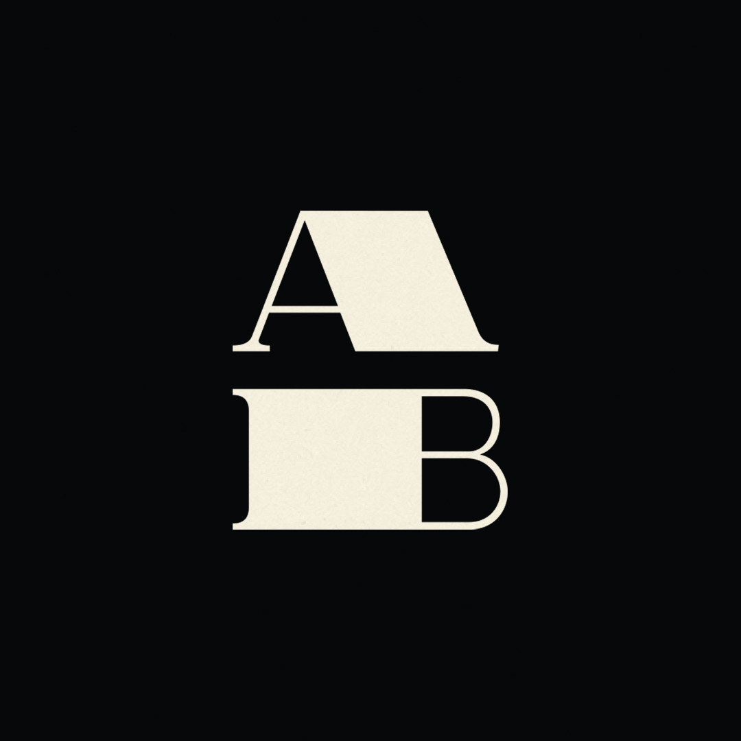 AB monogram designed by Abby Haddican