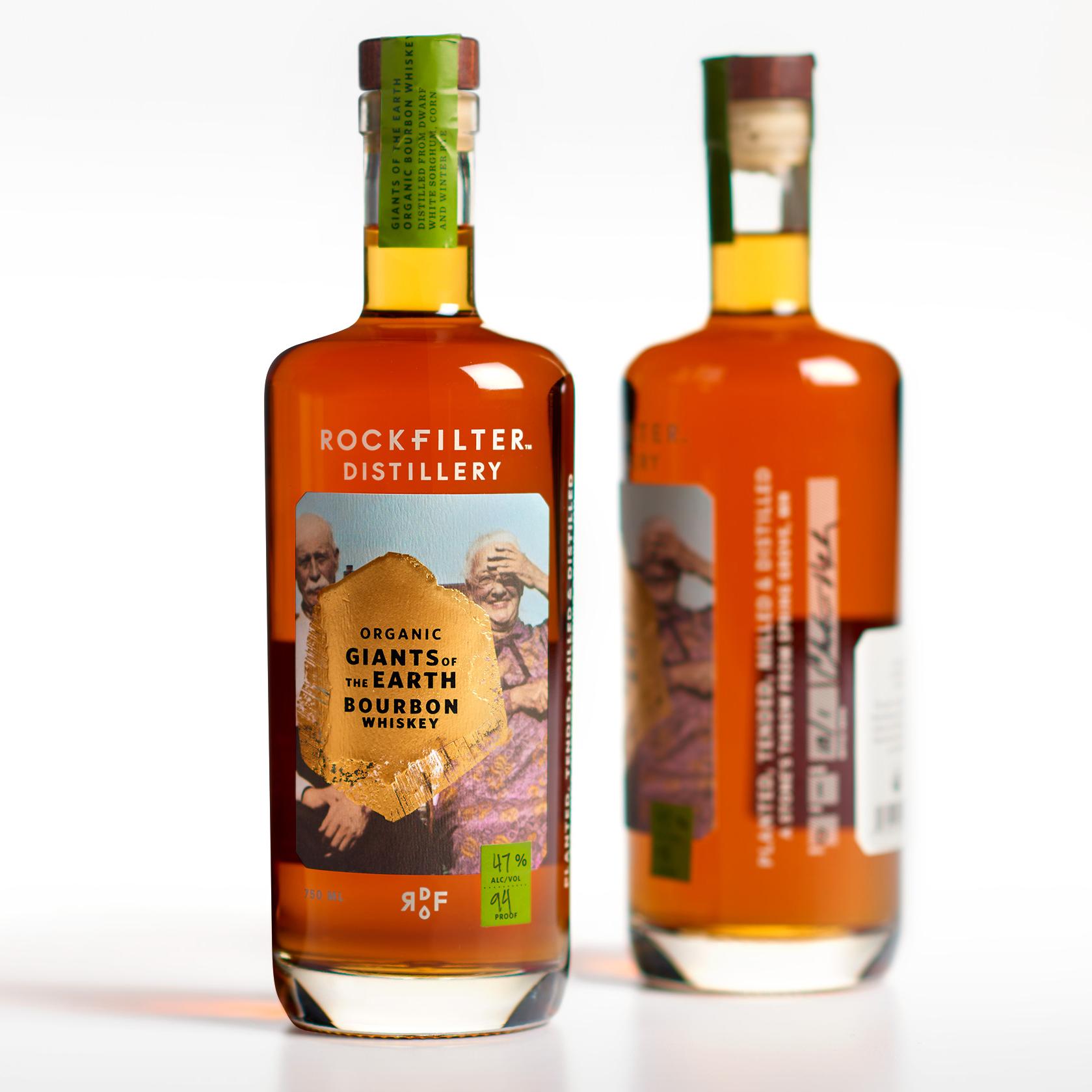 RockFilter Distillery identity & packaging