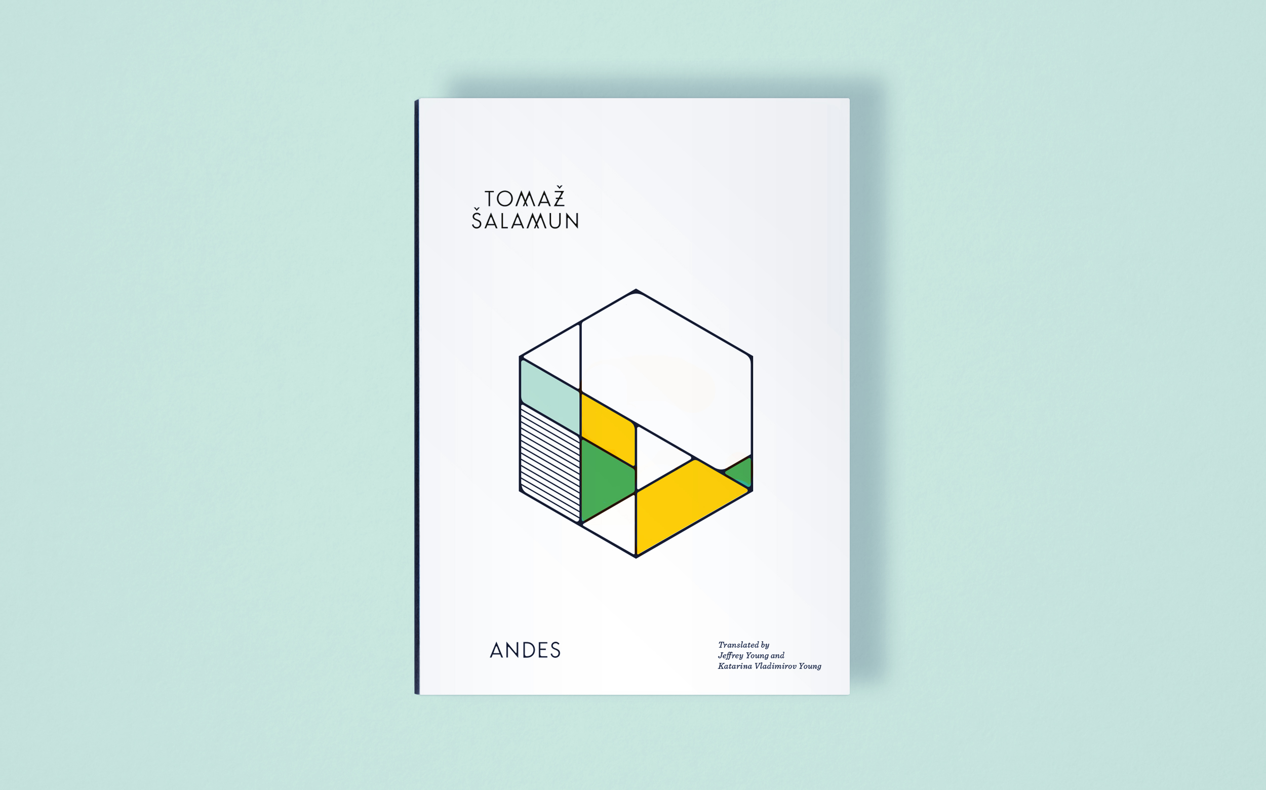 Andes by Tomaz Salamun, book cover design and creative direction by Abby Haddican Studio