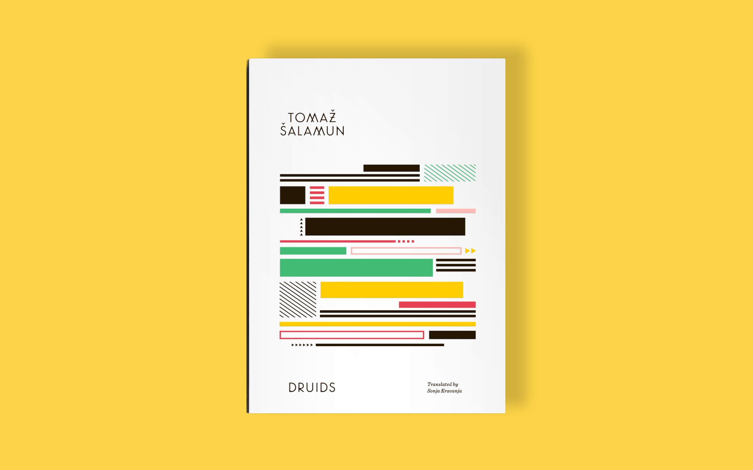 Druids by Tomaz Salamun,. Book cover design, illustration, and custom typography by Abby Haddican Studio.