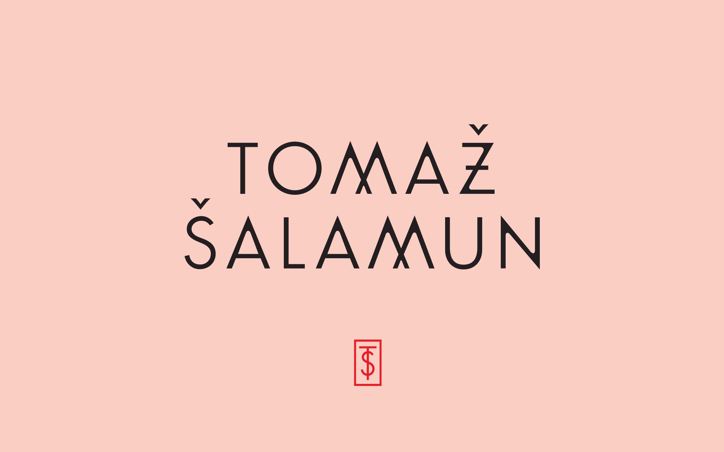 Tomaz Salamun logotype and monogram design by Abby Haddican Studio.