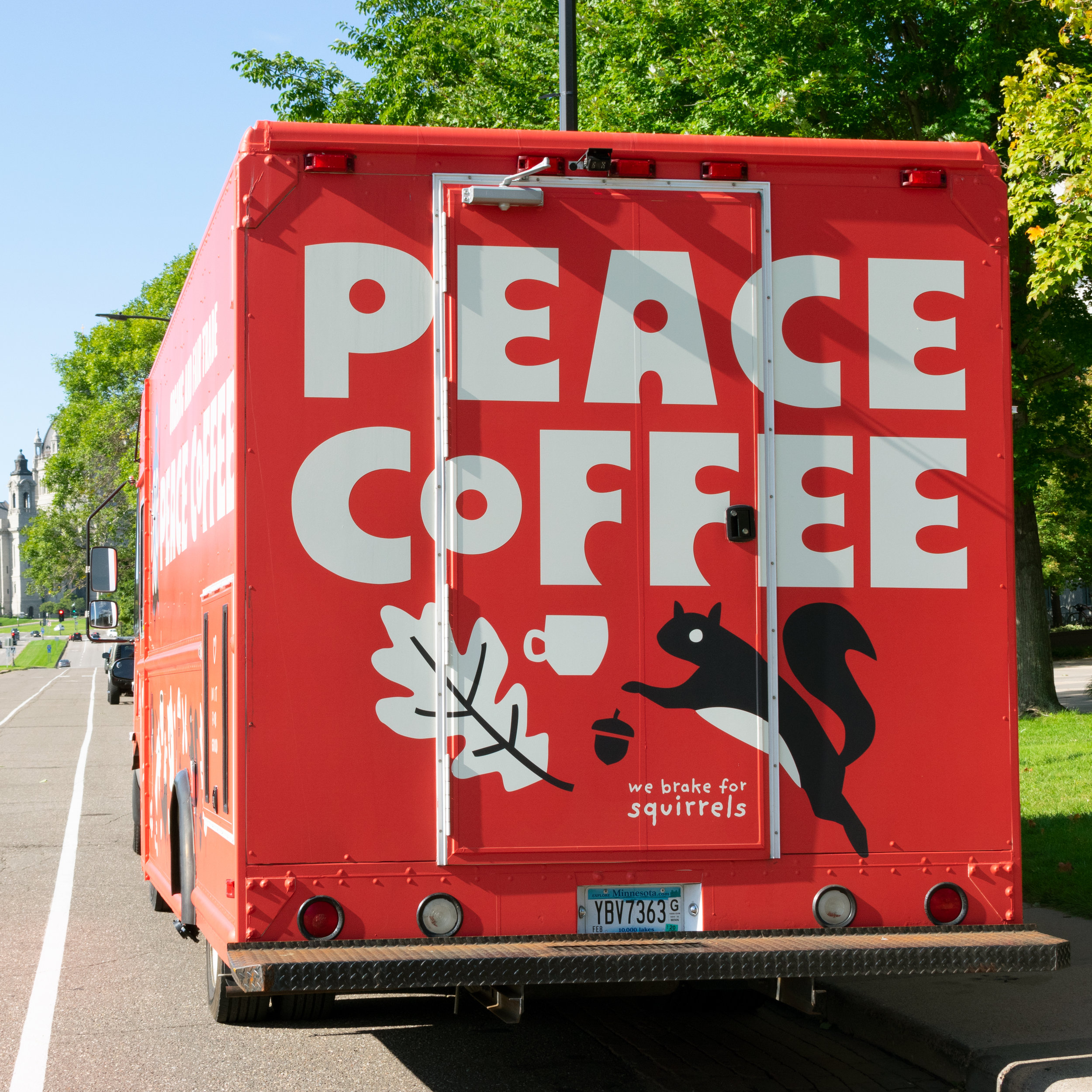 Peace Coffee mobile cafe truck designed by Abby Haddican