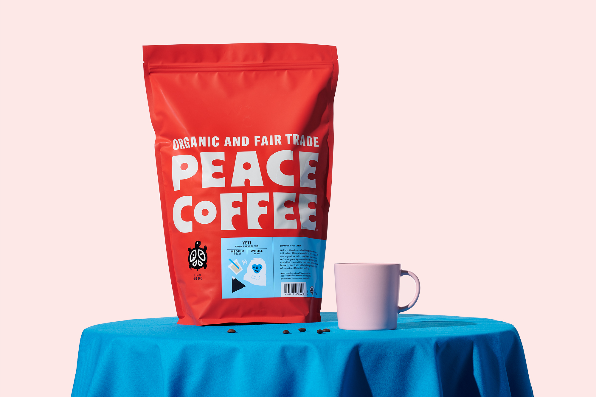Peace Coffee rebrand and packaging