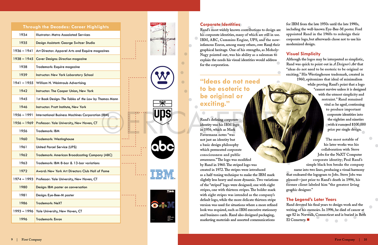 PAUL RAND - SPREAD 2 MOCK UP (INDESIGN)