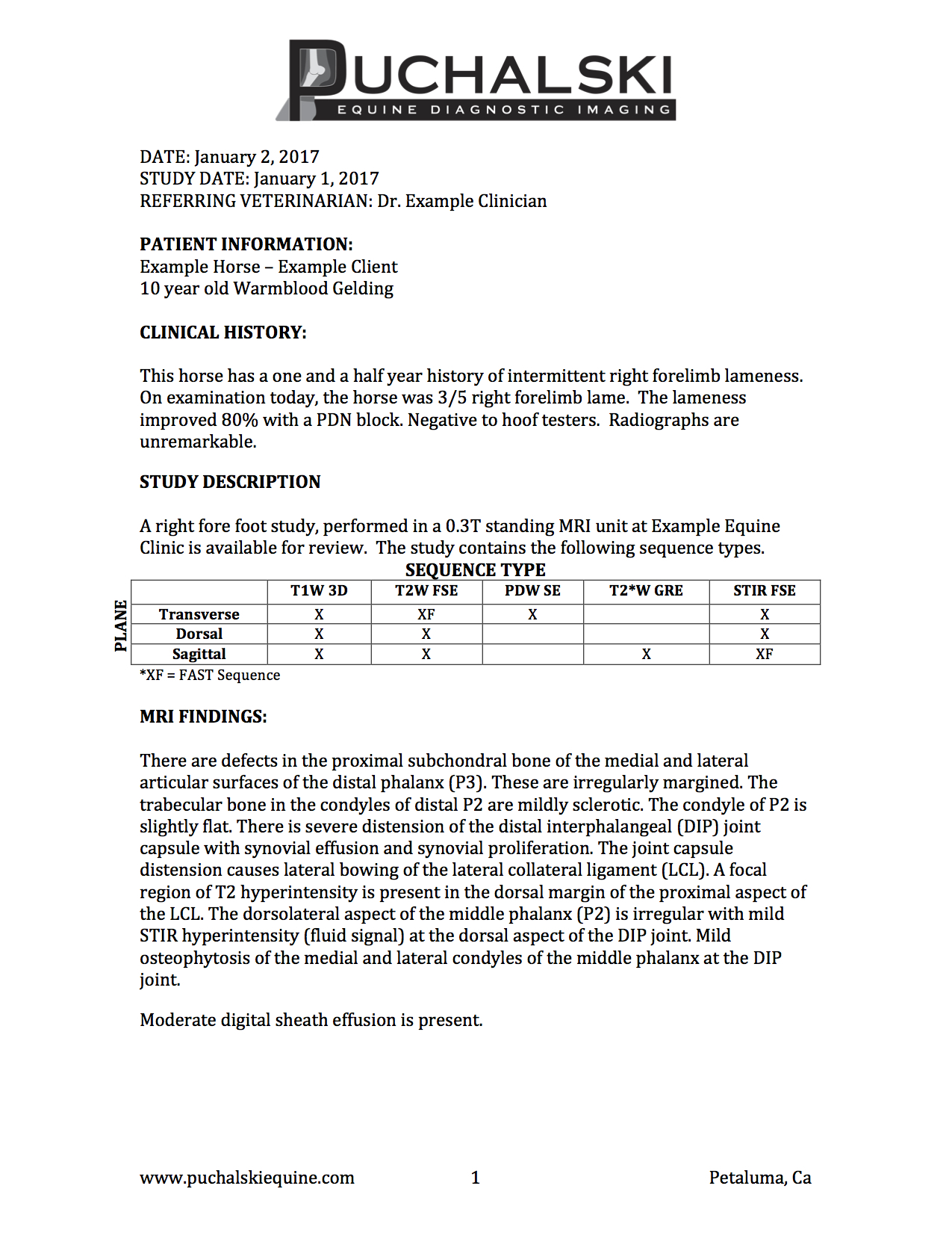 Radiologist's Report