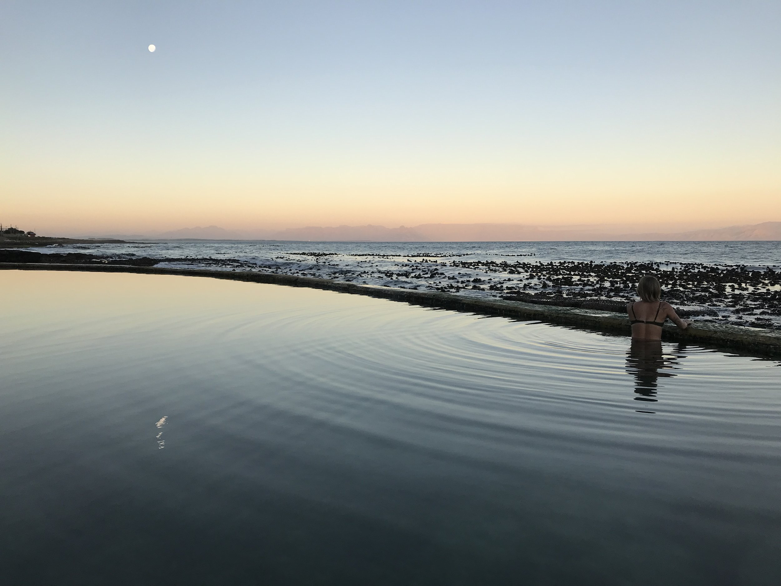 "My last sunset in Kalk Bay. Everything about this night was memorable.  ""If I was the night, then you were the moon."""