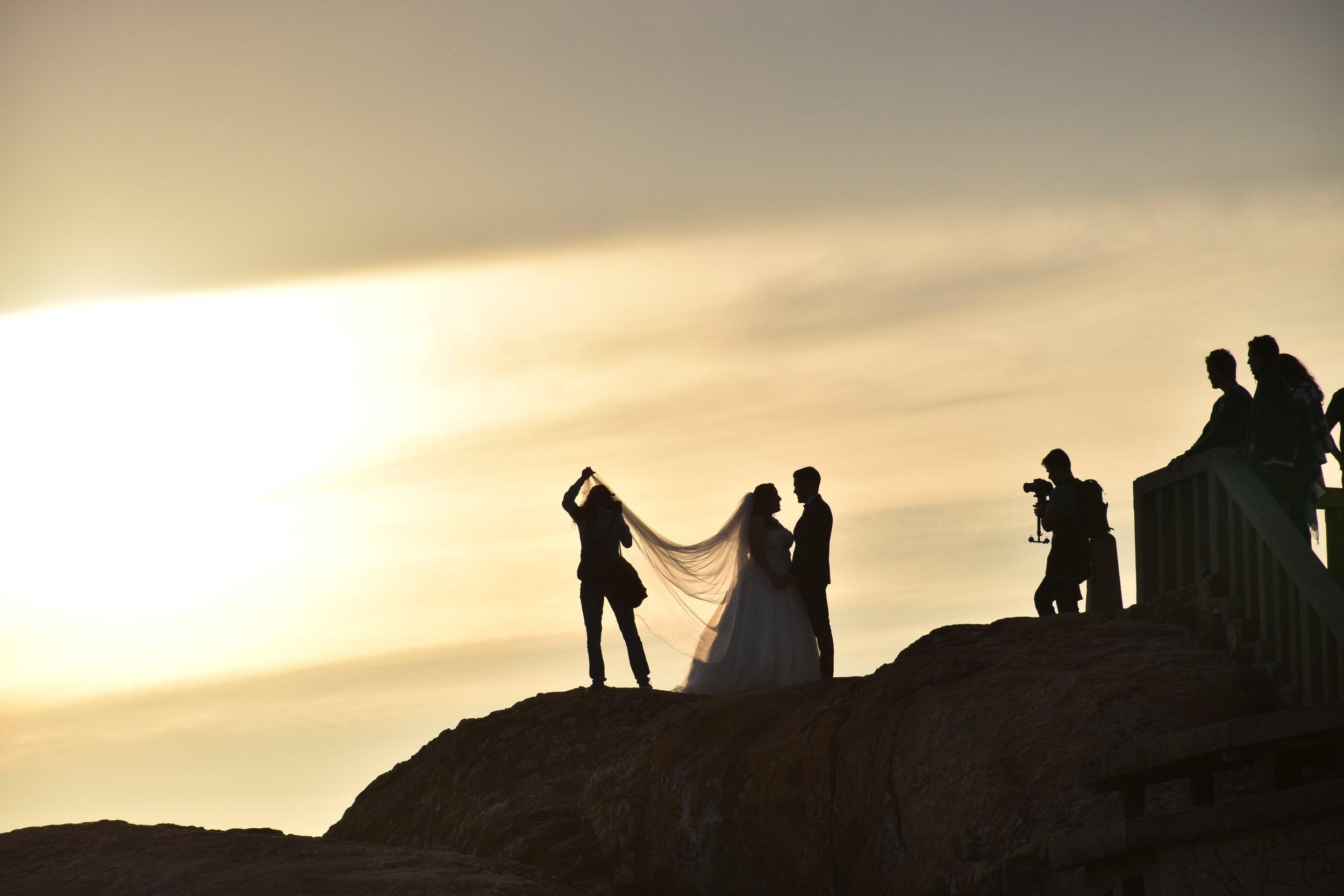 wedding photographer shooting couple